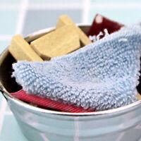 1/12 Puppenhaus Miniatur Waschtisch, Holz Waschbrett und Handtuch Modell