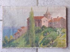 Ancienne toile signée.Impressionniste Provençale. Français