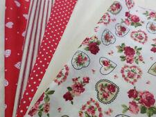 Tessuti e stoffe rosso A pois per hobby creativi