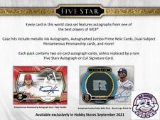 New listing Greg Maddux 2021 Topps Five Star Baseball 2Case 16Box Break