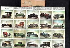 Minerva Automobiles Motor Cars Series 4 Full 20 Card Set 1950's In Orig Packing