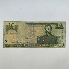 DOMINICAN REPUBLIC BANKNOTE - 10 PESOS ORO - FREE SHIPPING