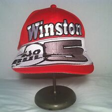 Winston NO BULL Red Snapback Hat Cap #5 Vintage NASCAR Racing Cigarettes Chase