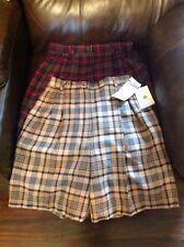 Pendleton Wool shorts plaid tartan Women's Petite Size 8 Two Pair Winter Fall