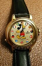 """Lorus Musical Mickey Mouse Disney World Flags watch Japan """"Works Functions GREAT"""