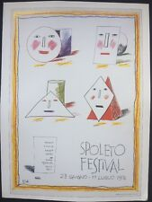 "David Hockney Spoleto Festival 1976 mini poster pop art auth. Repro. 14""x10"" R59"