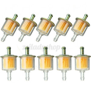 10x 5/16'' 8mm Motorcycle Petrol Fuel Inline Filter For Quad Pit Dirt Bike ATV