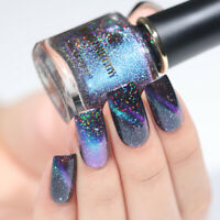 BORN PRETTY Holographic Chameleon Nail Polish Starry Magnetic Varnish Black Base