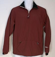 BAUER NHL Hockey Burgundy Red WARM-UP JACKET 1/4 Zip Pullover Youth M/L Men's S