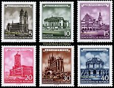 EBS East Germany DDR 1955 Restored Historical Buildings Michel 491-496 MNH**