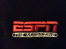 ESPN The Magazine Fleece Jacket 1/4 Zip Pullover Men's XL Black