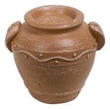 (Pack of 2) Terracotta Urns Ornaments - Brown Vivid Arts -Miniature World MW0...