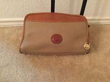 Vintage Dooney & Bourke Taupe/Brown Pebble Leather Bag