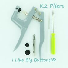 K2 Plastic Snap Hand Press Pliers/Awl for KAM Snaps Cloth Diapers/PUL/Bibs/Nappy