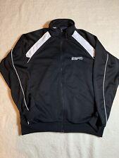 ESPN Sports Center Mens Large Zip Windbreaker Jacket Polyester