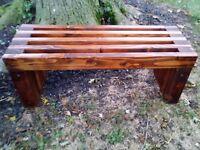 Handmade Rustic Outdoor Indoor Wooden Bench..Outdoor Furniture, Wood Bench