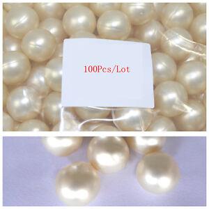 100Pcs/Lot Circular 3.9g Bath Oil Beads Floral Fragrance Bath Pearls White