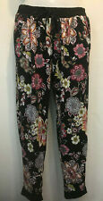 Nwot SEE YOU MONDAY black floral jogger lounge yoga soft knit PANTS LEGGINGS XL