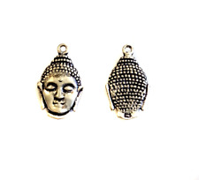 2PC Sterling Silver Buddha Head Charms-Jewelry Supplies