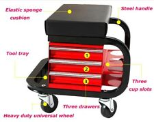 Rolling Seat Creeper Garage Stool Shop Car Work Tool Box Chest Storage