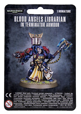 Blood Angels Librarian in Terminator Armour Space Warhammer 40K Nib Blister