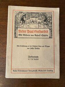 Lieder Paul Gerhards mit Bildern von Rudolf Schäfer von 1908