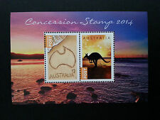 Concession Stamps 2014 Australian Mini Sheet rare issue mint