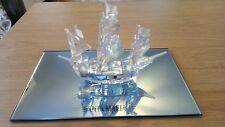 Swarovski Crystal Santa Maria Ship in box and display glass