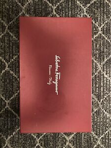 "Empty Salvatore Ferragamo Shoe Box Red Storage 13.5"" x 8.5"" x 5"""