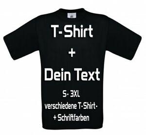 T-Shirt Druck Teamshirt bedrucken selbst Wunschtext Schriftzug  Motiv gestalten