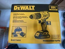 "DeWALT DCD778C2 20V MAX Brushless 1/2""Compact Cordless Hammer Drill/Driver Kit"