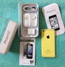 NEW Apple iPhone 5c - 8GB - Yellow (Factory Unlocked) Smartphone NIB + FREE GIFT