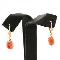 Castellano Jewels Pendientes Mujer Coral y Oro de Ley 18k