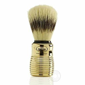 Omega 11205 Pure Bristle Shaving Brush - Gold Handle