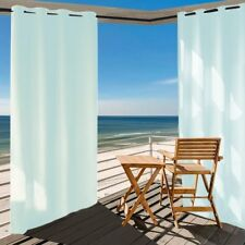Waterproof Privacy Outdoor Window Curtain Panel 50x84+Free Ropes for Porch Patio