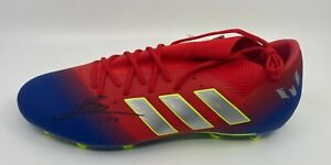 Lionel Messi Signed Adidas Soccer Cleat Autographed Sz 11.5 Beckett BAS LOA AUTO