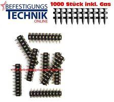 1000 clavos de hormigón c6 25mm incl. gas para hitachi UC gas betonnagler nc40g
