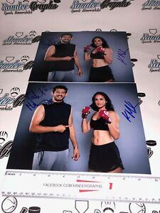 GILBERT & KERI MELENDEZ SIGNED AUTOGRAPHED 8x10 PHOTOGRAPH LOT (2) MMA BELLATOR