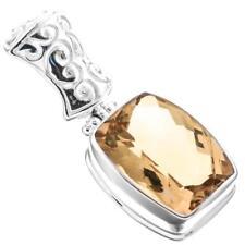 "1"" 14MM CITRINE 925 STERLING SILVER pendant"