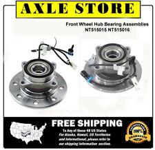 2 New Wheel Hub and Bearing Assemblies Front Pair Warranty 8 Stud 515015 515016