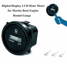 "1PCS Car Truck Marine Boat Engine 2"" Round Gauge LCD Digital Screen Hour Meter"