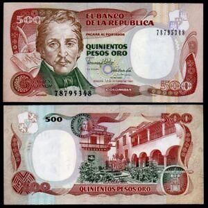 Colombia Banknotes 500 Pesos 1990, P-431a4 - UNC