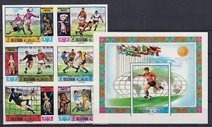 Football Ras Al Khaima 354 - 59 B Zd + Block 79 B WM 1970 Mexico