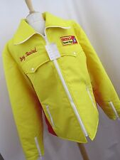 Bosch Spark Plugs Full Zip Jacket Winter Jacket Yellow Red Stripe Gary Baird New