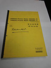 Fanuc Power Mate Manual, Model D, Model F, Japanese, Used