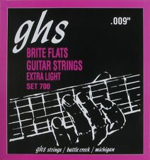 GHS 700 Brite Flats Flatwound Electric Guitar Strings  9-42 set 700