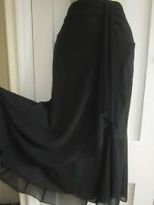Ladies size 12 George collection attractive black evening skirt semi sheer lined