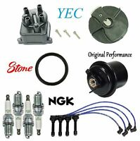 Tune Up Kit Wire Spark Plugs Cap Rotor Fuel Filter FIT Volkswagen Jetta 2.0L 1993-1999