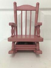 Vintage 1984 Pink Bumpkins Doll Wooden Rocking Chair (Musical) Fabrizio Geo Good