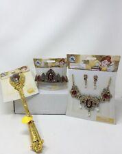 Disney Store Princess Belle Royal Jewelry Set, Tiara  & Enchanted Wand